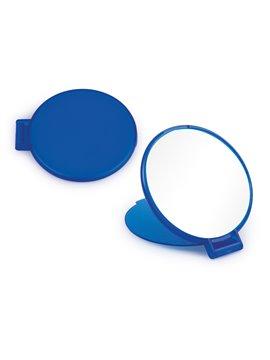 Espejo Redondo de Bolsillo con Tapa Plegable - Azul