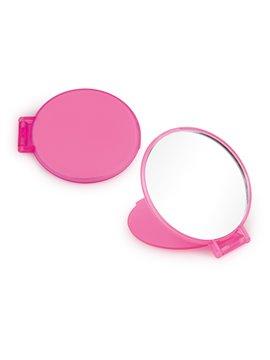 Espejo Redondo de Bolsillo con Tapa Plegable - Rosado