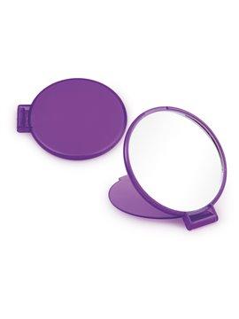 Espejo Redondo de Bolsillo con Tapa Plegable - Violeta