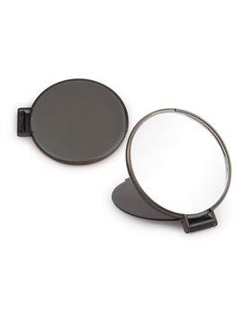 Espejo Redondo de Bolsillo con Tapa Plegable - Negro