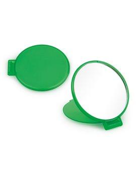 Espejo Redondo de Bolsillo con Tapa Plegable - Verde