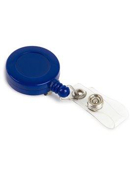 Portacarne Identificador Redondo con Line Retractil - Azul Solido