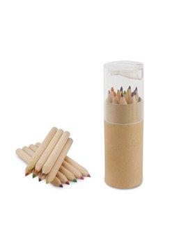 Kit 12 Colores Eco en estuche de Carton Tapa Sacapuntas - Transparente