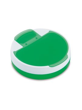 Pastillero Rotary plastico redondo 4 compartimentos - Verde