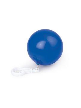 Bola plastica con capa Impermeable con mosqueton - Azul