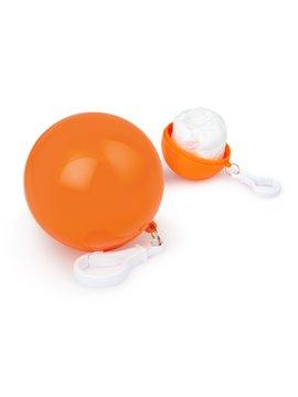 Bola plastica con capa Impermeable con mosqueton - Naranja