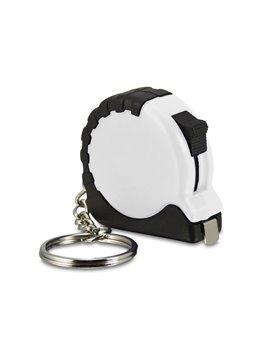 Llavero Mini Flexometro de Bolsillo de 1 m Retractil - Blanco
