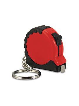 Llavero Mini Flexometro de Bolsillo de 1 m Retractil - Rojo