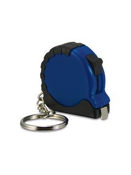 Llavero Mini Flexometro de Bolsillo de 1 m Retractil - Azul