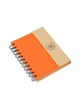 Cuaderno Full argollado magnetico doble O con Banderitas - Naranja