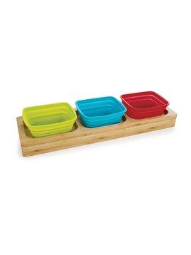 Set x 3 Bowls Taza Plegables En Base de Bamboo - Natural