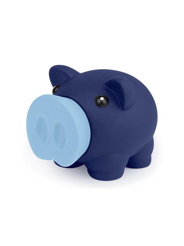 Alcancia Little Piggy Hecha En Pvc Con Tapa Frontal - Azul Oscuro