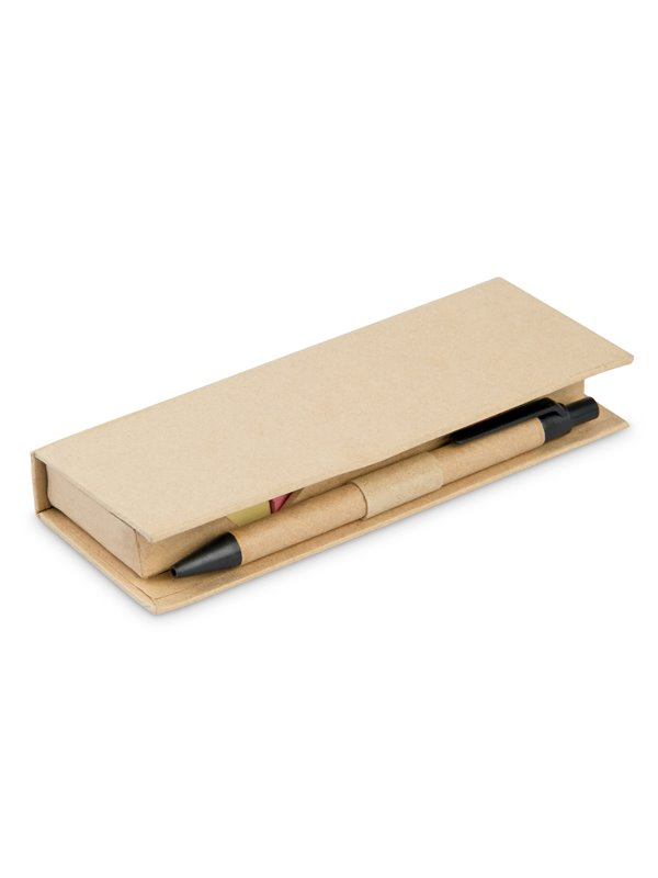 Memo Slim Estuche de carton con bolsillo de regla - Natural