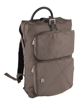Morral Maletin Backpack Urban Poliester 300D - Cafe