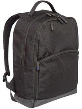 Bolso Morral Maletin Porta Notebook Negro en Poliester - Negro/Azul Rey