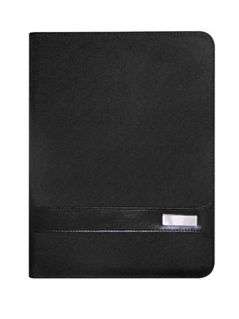 Carpeta Portadocumentos Priority con Bloc Hojas A4 Lisas - Negro