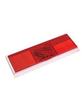 Set Para Oficina con Blocks Autoadhesivos de Tapa Traslucida - Rojo