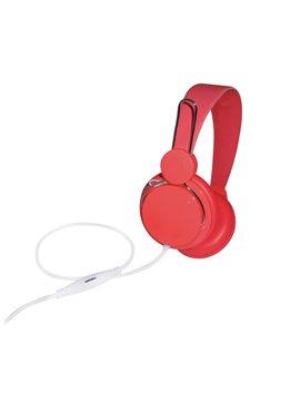 Audifonos Auriculares Sonido Stereo Cable Control de Volumen - Rojo