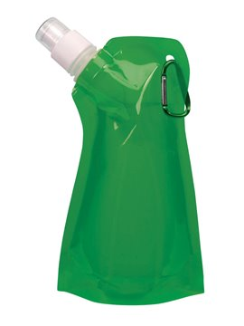 Botella Plastica Colapsible Porta Bebidas Con Arnes 480 ml - Verde