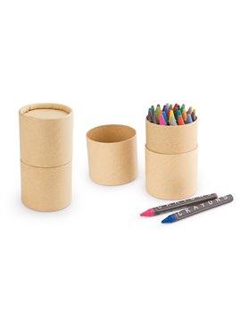 Crayones Crayolas Eco en Estuche de Carton Reciclado - Natural