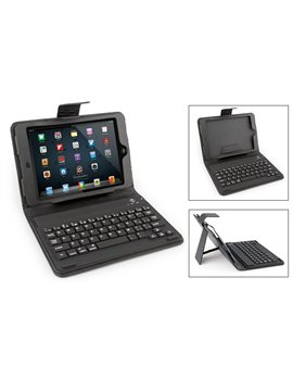 Estuche Teclado Bluetooth 3.0 para iPhone iPad Samsung - Negro