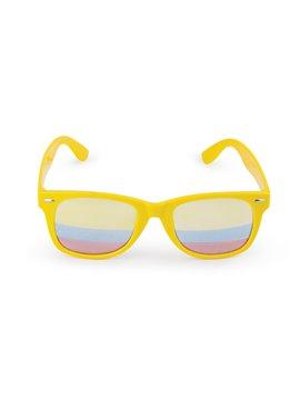 Gafas de sol impresion tricolor en lente Proteccion UV400 - Amarillo