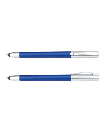 Boligrafo Memphis Solido Stylus touch pantallas tactiles - Azul