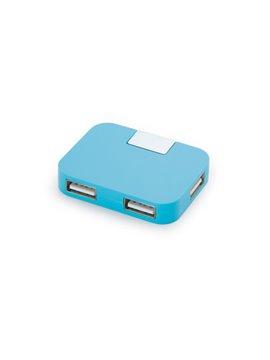 Multipuerto Conector USB Hub 4 Puertos - Azul Claro