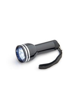 Linterna Point Aluminio 6 bombillos LED y cordon - Negro