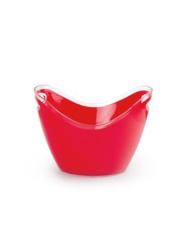 Hielera en PS con doble agarradera corta - Rojo