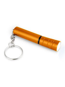 Linterna Ankara Metalizada twist y argolla para llavero - Naranja