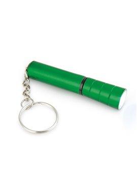 Linterna Ankara Metalizada twist y argolla para llavero - Verde