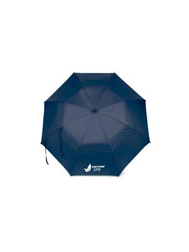 Sombrilla Paraguas 30 Pulgadas Doble Bela 8 Cascos - Azul Oscuro
