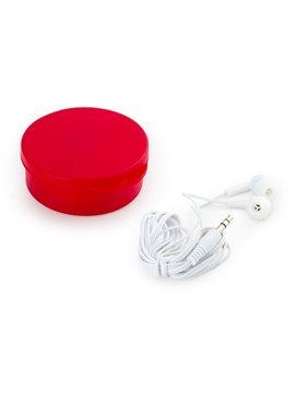 Audifonos Cole intrauditivos con practico estuche 1.5 m - Rojo