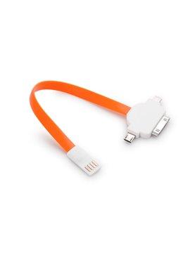 Conector Neon para Iphone 5s / 4S Puerto Micro USB Iman - Naranja