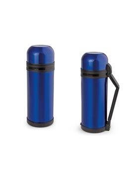 Termo en Acero Inoxidable 1500 ml Doble Tapa - Azul