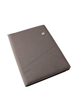 Carpeta Folder En Poliester A4 Lexon 2 Bolsillos Internos - Cafe