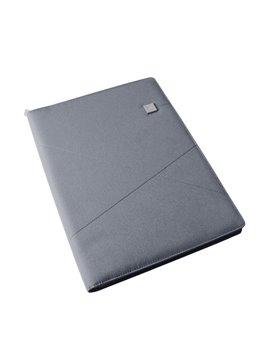 Carpeta Folder En Poliester A4 Lexon 2 Bolsillos Internos - Gris