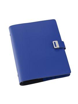 Agenda Libreta Porta Documentos En Cuero A5 - Azul