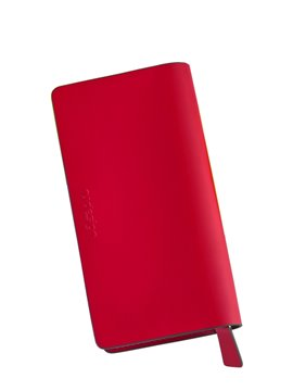 Billetera En Cuero Nicole Porta Tarjetas - Rojo