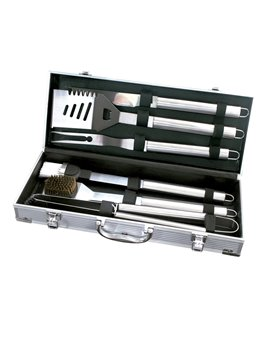 Set Parrila De BBQ En Aluminio 6 Accesorios - Plateado