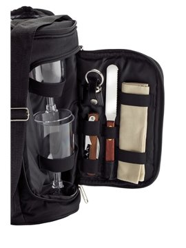 Nevera En Lona Poliester Wine Cooler Bag - Negro