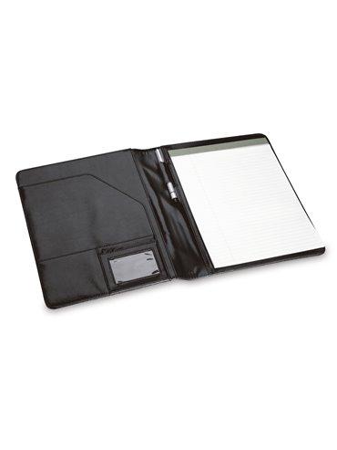 Portafolio Sencillo En PVC Con Block De Notas - Negro