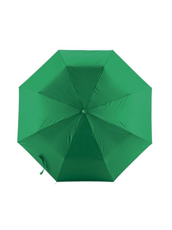 Mini Paraguas Semiautomatico Strap 21 Pulgadas Mango Caucho - Verde
