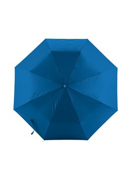 Mini Paraguas Semiautomatico Strap 21 Pulgadas Mango Caucho - Azul Rey