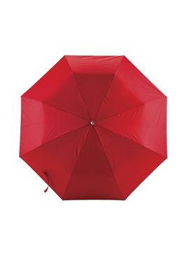 Mini Paraguas Semiautomatico Strap 21 Pulgadas Mango Caucho - Rojo