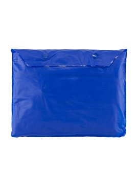 Chaqueta PVC Capucha Cordon Adaptable Cierre Frontal Talla L - Azul Rey