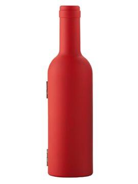 Set De Vino Bottle En Estuche Con Forma De Botella - Rojo