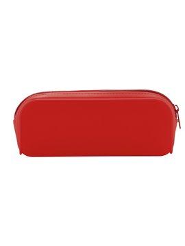 Estuche Multiusos En Silicona Cierre De Cremallera - Rojo