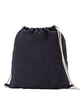 Bolsa Tula Sporty Bag En Yute Cordon Para Cerrar y Cargar - Azul oscuro